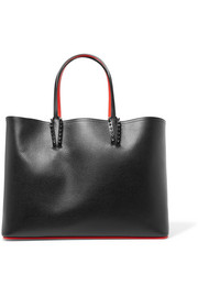 Cabata studded textured-leather tote