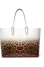 Christian Louboutin Cabata studded dégradé leopard-print leather tote
