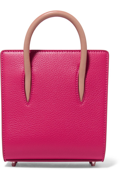 PALOMA NANO SPIKED TEXTURED-LEATHER TOTE