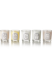 Holiday set of five candles, 5 x 35g