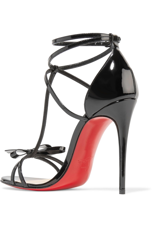 Christian Louboutin Blakissima 100 bow-embellished patent-leather sandals