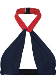 Oscar Neckholder-Bikini-Oberteil in Colour-Block-Optik