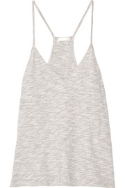 Cotton-blend mouliné camisole