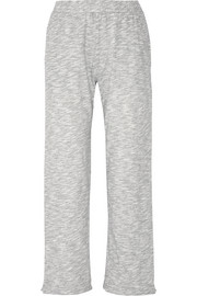 Cotton-blend mouliné pajama pants