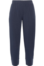 Pima cotton-jersey track pants