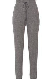 Ribbed stretch-cotton track pants