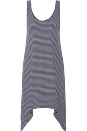 Striped Pima cotton and Micro Modal-blend nightdress