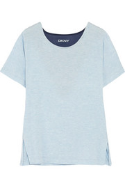 Blue Note mesh-paneled stretch-modal T-shirt
