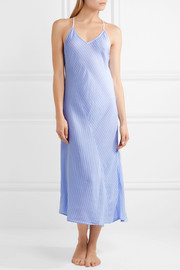 DKNY The Lineup striped voile nightdress