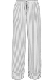 Striped stretch-jersey pajama pants