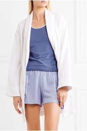 DKNY Signature cotton-terry robe