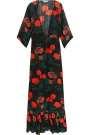 GANNI Newman floral-print georgette maxi dress
