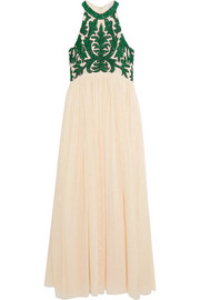 GANNI Colby sequined tulle maxi dress