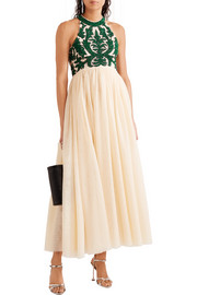Colby sequined tulle maxi dress
