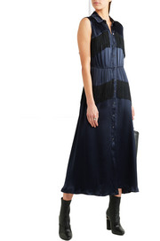 Donnelly fringed satin midi dress