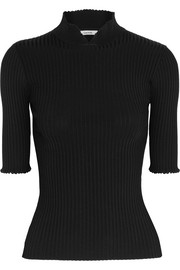 GANNI Evangel ribbed stretch-knit top