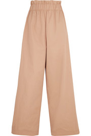 GANNI Phillips cotton wide-leg pants