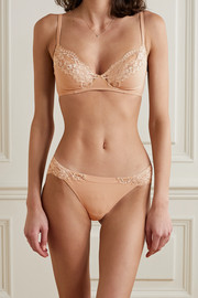 La Perla Souple lace and stretch-cotton jersey briefs