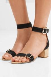 Carmen suede and cork sandals