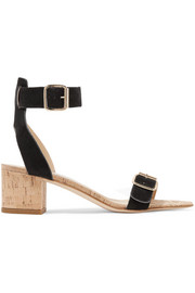 ATP Atelier Carmen suede and cork sandals