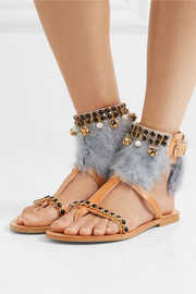 Aten embellished leather sandals