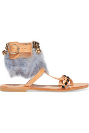 Mabu by Maria BK Aten embellished leather sandals