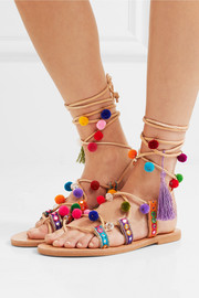 Ida embellished leather sandals