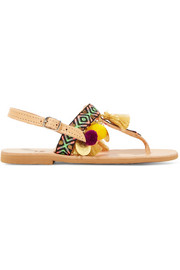 Mabu by Maria BK Aeesha appliquéd embellished leather sandals