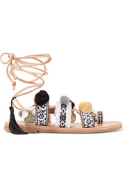 Mabu by Maria BK Freya embellished leather sandals
