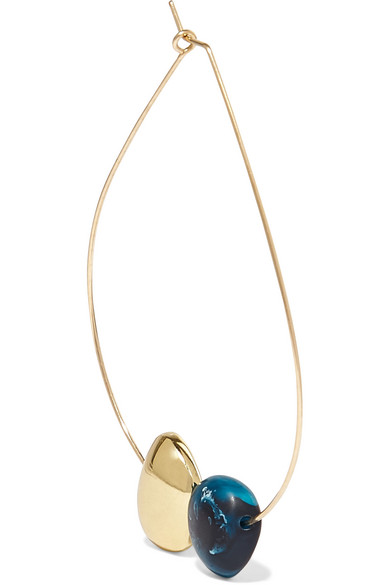 Dinosaur Designs - Mineral Hoop Gold-filled Resin Earring - Blue