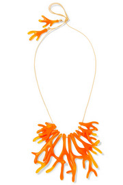 Coral Fan resin necklace