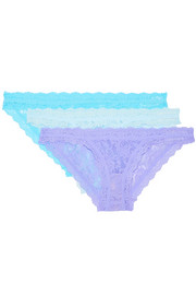 Hanky Panky Signature set of three stretch-lace briefs