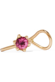 Rose Solitaire 18-karat gold tourmaline ear cuff