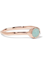 Monica Vinader Siren rose gold vermeil amazonite ring