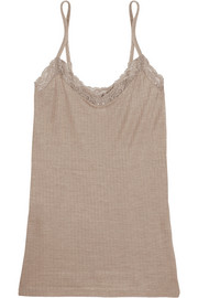 Hanro Millie lace-trimmed ribbed jersey camisole