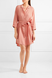 Lilly crepe shirt dress