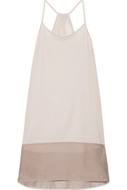 Paula voile-trimmed cotton-jersey nightdress