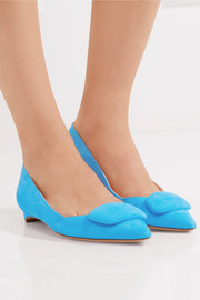 Aga suede point-toe flats