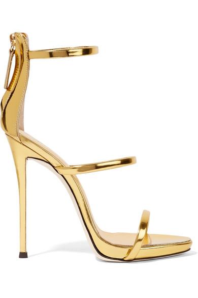 Giuseppe Zanotti - Harmony Metallic Leather Sandals - Gold