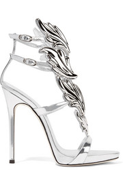 Cruel embellished metallic leather sandals