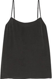 Cara washed-silk camisole