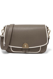 Wilton two-tone textured-leather shoulder bag