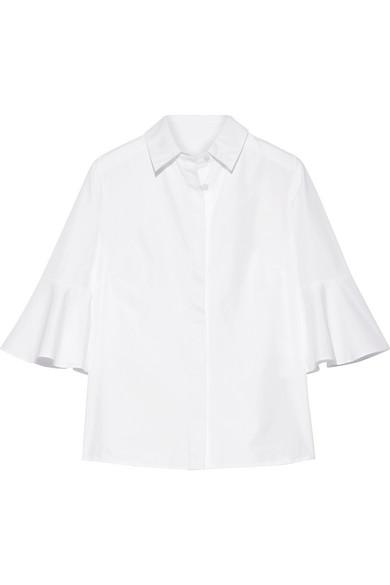 Draper James - Bell-sleeve Cotton-poplin Shirt - White