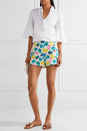 Draper James Printed cotton-blend shorts