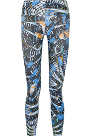 I Am Bold printed stretch-jersey leggings
