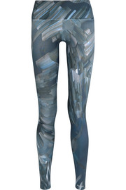 I Am Ready printed stretch-jersey leggings