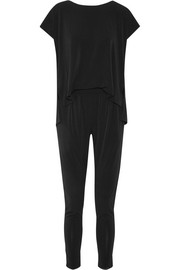 Darliano draped stretch-crepe jumpsuit