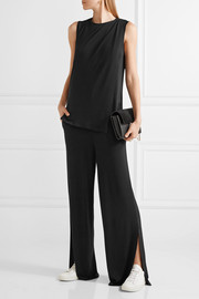 Nojo layered stretch-crepe jumpsuit