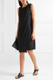 Junni draped stretch-crepe dress