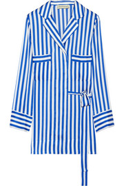 By Malene Birger Lanfi striped satin blouse